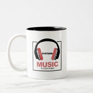 Caneca De Café Em Dois Tons A música é tudo