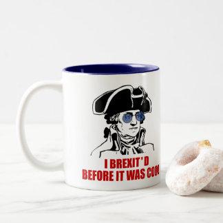 Caneca De Café Em Dois Tons A UE 1776 de George Washington Brexit embandeira