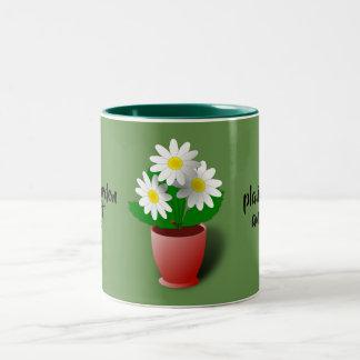 Caneca De Café Em Dois Tons a vida é um jardim