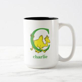 Caneca De Café Em Dois Tons ABC do Dr. Seuss: Letra C - O verde | adiciona seu