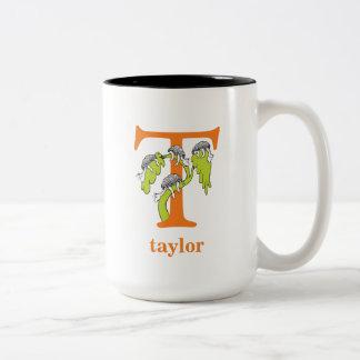 Caneca De Café Em Dois Tons ABC do Dr. Seuss: Letra T - A laranja | adiciona