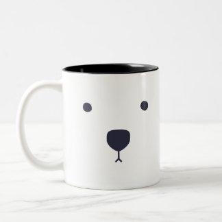 Caneca De Café Em Dois Tons Abraços de urso polar