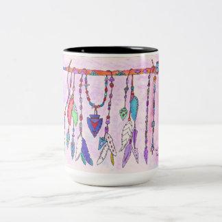 Caneca De Café Em Dois Tons Agrida, copo de café, design tirado mão