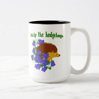 Caneca De Café Em Dois Tons Ajude os ouriços