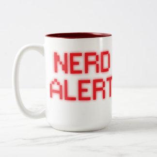 Caneca De Café Em Dois Tons Alerta do nerd