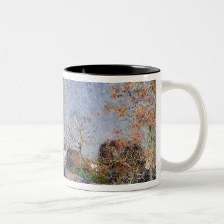 Caneca De Café Em Dois Tons Alfred Sisley   um canto das madeiras em Sablons