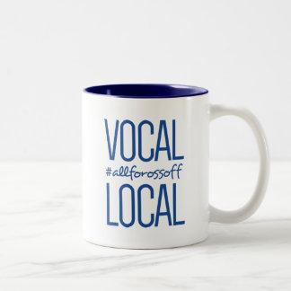 Caneca De Café Em Dois Tons #AllForOssoff vocal & local - AZUL