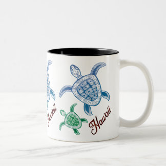 Caneca De Café Em Dois Tons Aloha tartaruga de Havaí