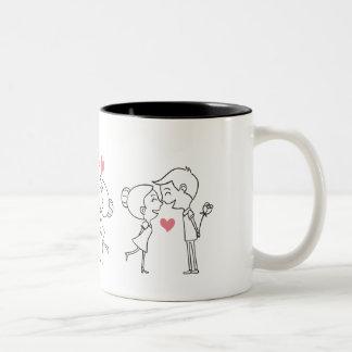 Caneca De Café Em Dois Tons amantes