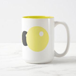 Caneca De Café Em Dois Tons Amarelo