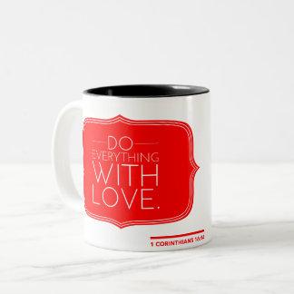 Caneca De Café Em Dois Tons Amor