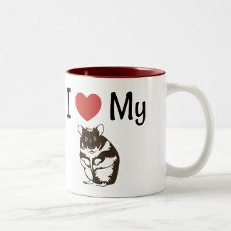 Caneca De Café Em Dois Tons Amor bonito de I meu hamster
