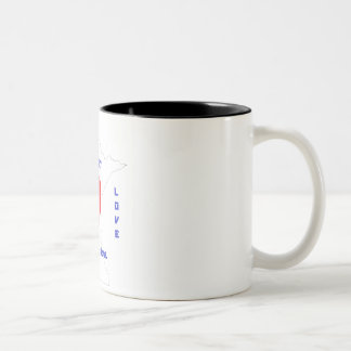 Caneca De Café Em Dois Tons Amor de Minnesota