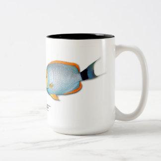 Caneca De Café Em Dois Tons Angelfish mascarado Hawaiian, personatus de
