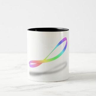 Caneca De Café Em Dois Tons Arco-íris infinito