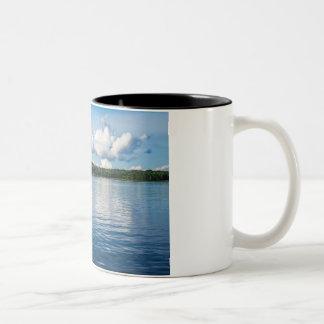 Caneca De Café Em Dois Tons Arquipélago na costa de mar Báltico na suecia