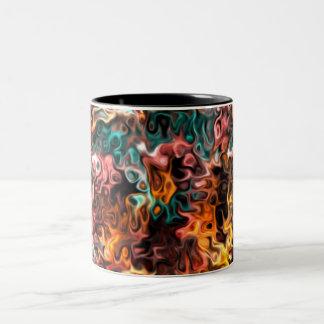 Caneca De Café Em Dois Tons arte abstracta ondulada: Relances