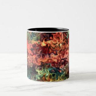 Caneca De Café Em Dois Tons Arte moderna 45,5 de Swirly