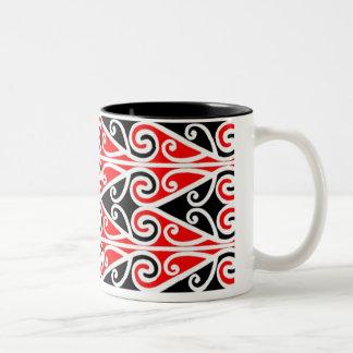 Caneca De Café Em Dois Tons arte tribal do design maori para você