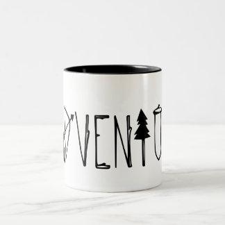 Caneca De Café Em Dois Tons Aventura
