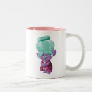 Caneca De Café Em Dois Tons Avó Rosiepuff dos troll |