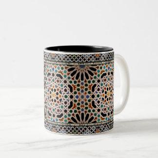 Caneca De Café Em Dois Tons Azulejos do Alhambra