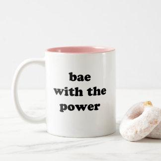 Caneca De Café Em Dois Tons Bae com o poder