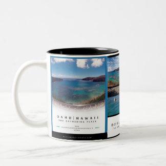 Caneca De Café Em Dois Tons Baía de Hanauma - Oahu Havaí