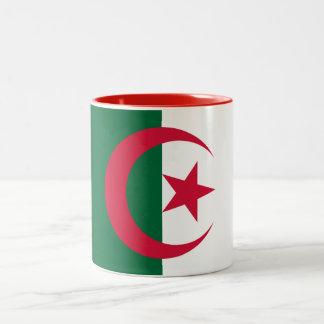 Caneca De Café Em Dois Tons Bandeira argelino patriótica
