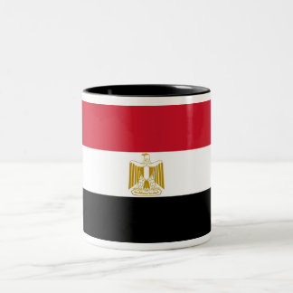 Caneca De Café Em Dois Tons Bandeira de Egipto