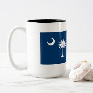 Caneca De Café Em Dois Tons Bandeira de South Carolina