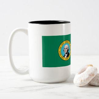 Caneca De Café Em Dois Tons Bandeira de Washington