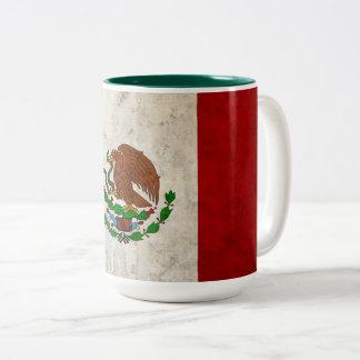 Caneca De Café Em Dois Tons Bandeira mexicana