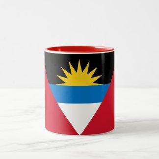 Caneca De Café Em Dois Tons Bandeira patriótica de Antígua e de Barbuda