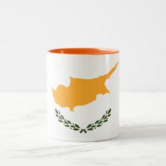 Caneca De Café Em Dois Tons Bandeira patriótica de Chipre