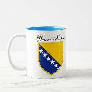 Caneca De Café Em Dois Tons Bandeira pessoal de Bósnia