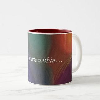 Caneca De Café Em Dois Tons Bata no universo dentro de você….