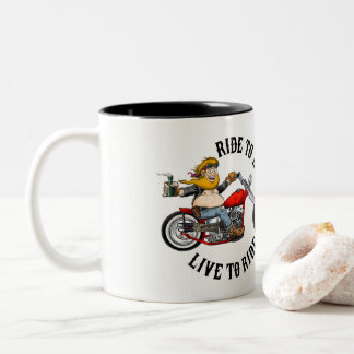 Caneca De Café Em Dois Tons Biker motoqueiro
