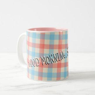 Caneca De Café Em Dois Tons Bom dia, bonito!