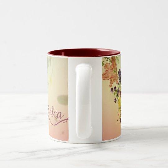 Caneca De Café Em Dois Tons Botânica