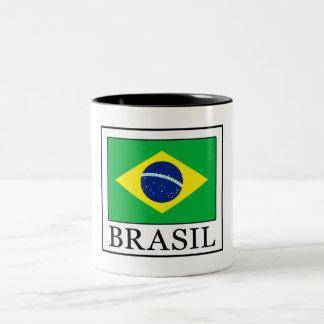 Caneca De Café Em Dois Tons Brasil