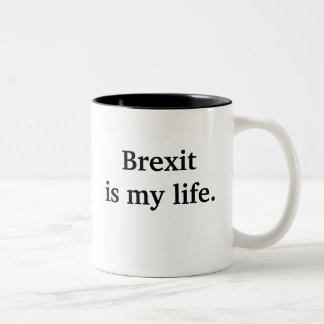 Caneca De Café Em Dois Tons Brexit é minha vida - citações políticas
