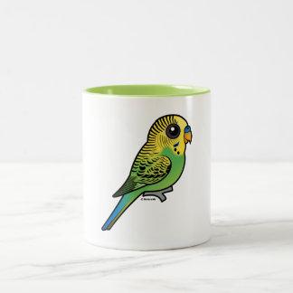 Caneca De Café Em Dois Tons Budgerigar de Birdorable