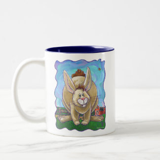 Caneca De Café Em Dois Tons Cabeças bonitos e caudas do coelho