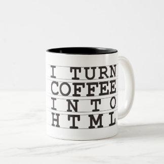 Caneca De Café Em Dois Tons Café do HTML