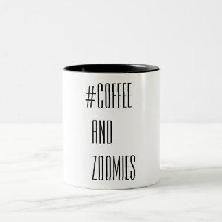 Caneca De Café Em Dois Tons Café e Zoomies