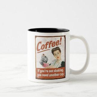 Caneca De Café Em Dois Tons Café se você não o está agitando necessidade um