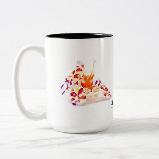 Caneca De Café Em Dois Tons Camarão do Harlequin, picta de Hymenocerca