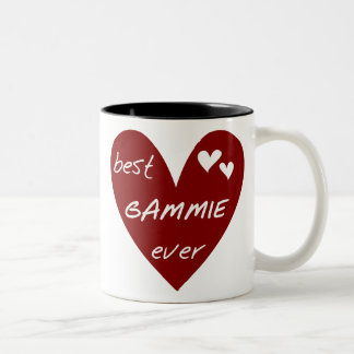 Caneca De Café Em Dois Tons Camiseta e presentes de Gammie do coração vermelho