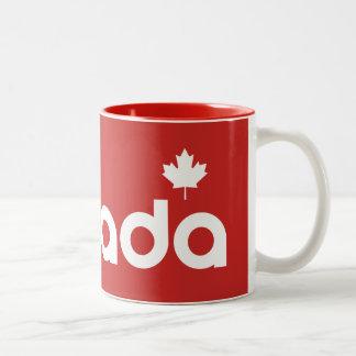 Caneca De Café Em Dois Tons Canadá